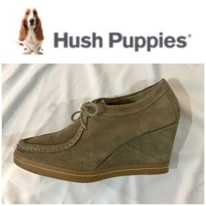 New! Hush Puppies Wedge Wallabe Ankle Boots